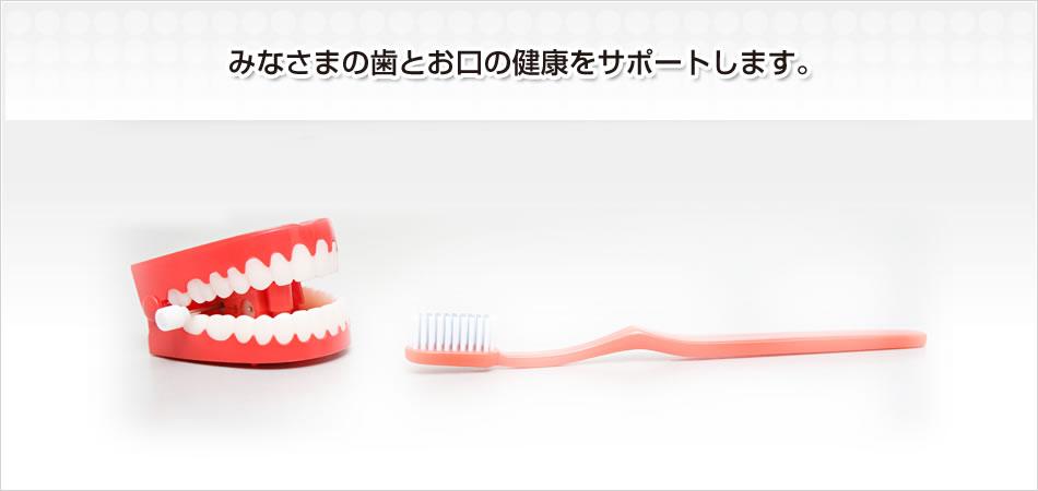 みなさまの歯とお口の健康をサポートします。